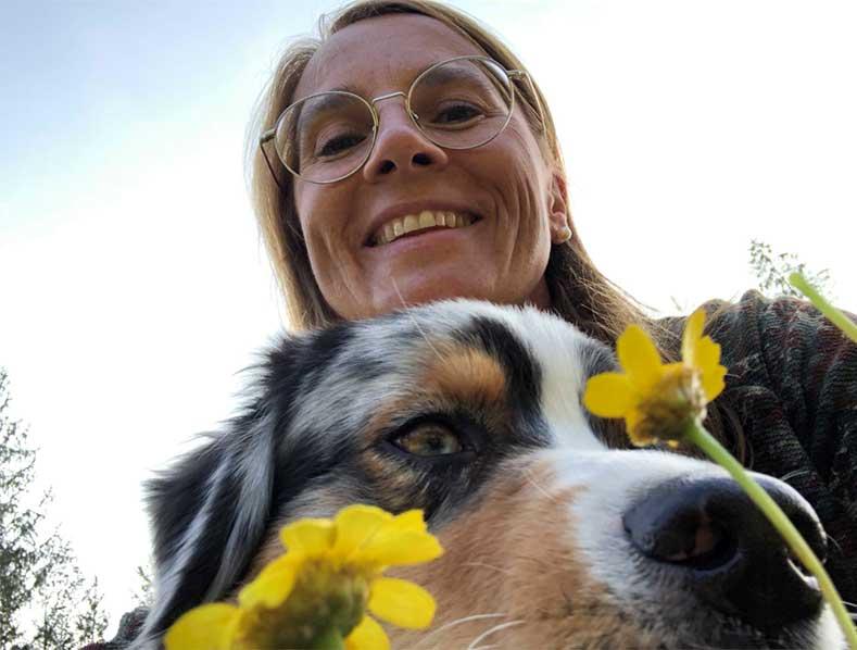 Birgit und Vince (Australien Shepard)